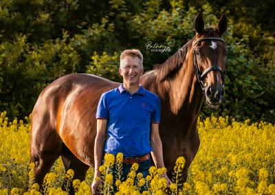 Paardenfotoshoot Aarle Patrick en Coconot girl